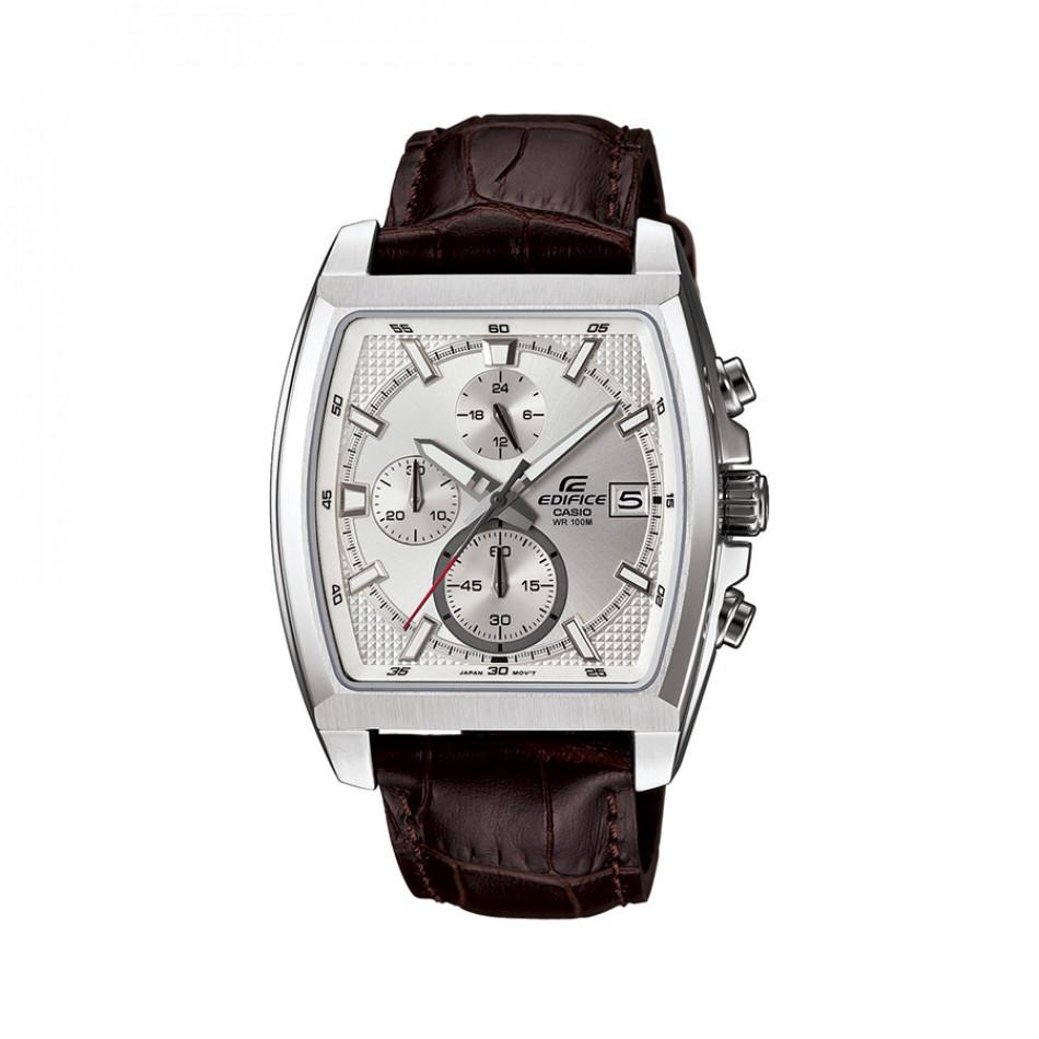 Мъжки часовник Casio Edifice с кафява кожена каишка EFR524L7AVEF