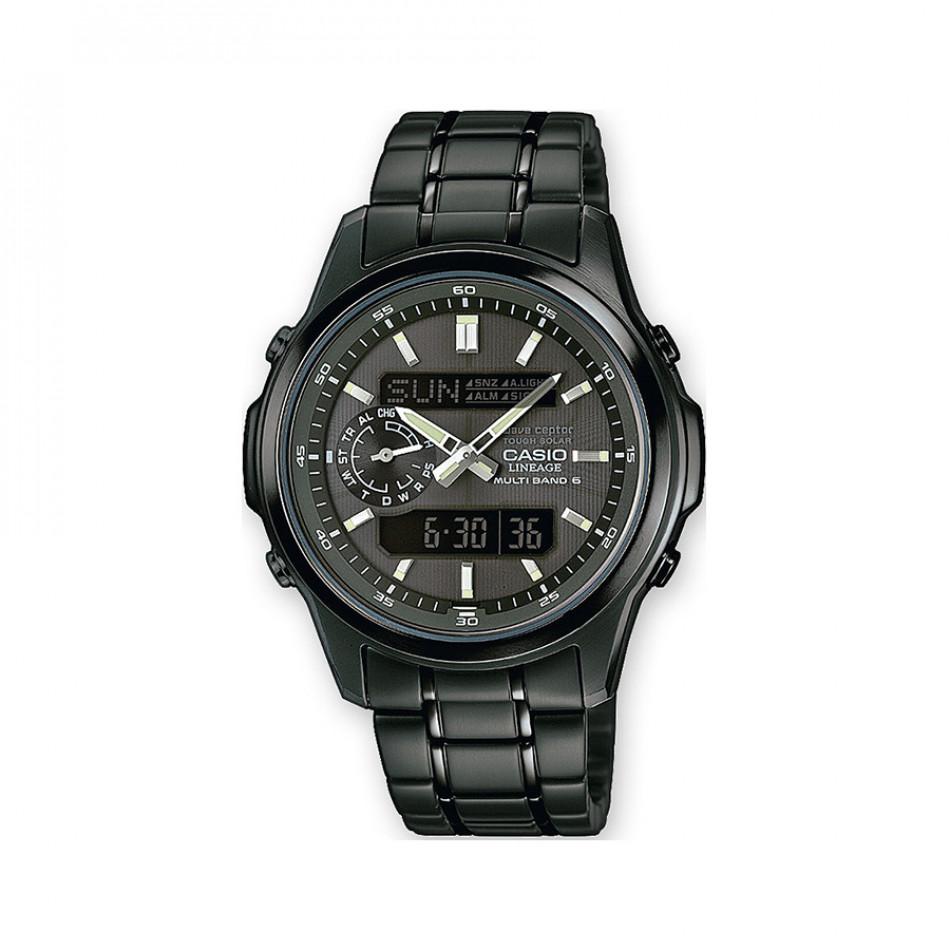 Мъжки часовник Casio Lineage черен с контрастни стрелки LCWM300DB1AER