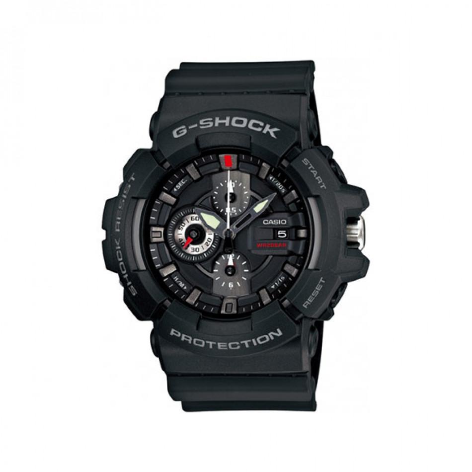 Мъжки спортен часовник Casio G-SHOCK черен с малки червени детайли GAC1001AER