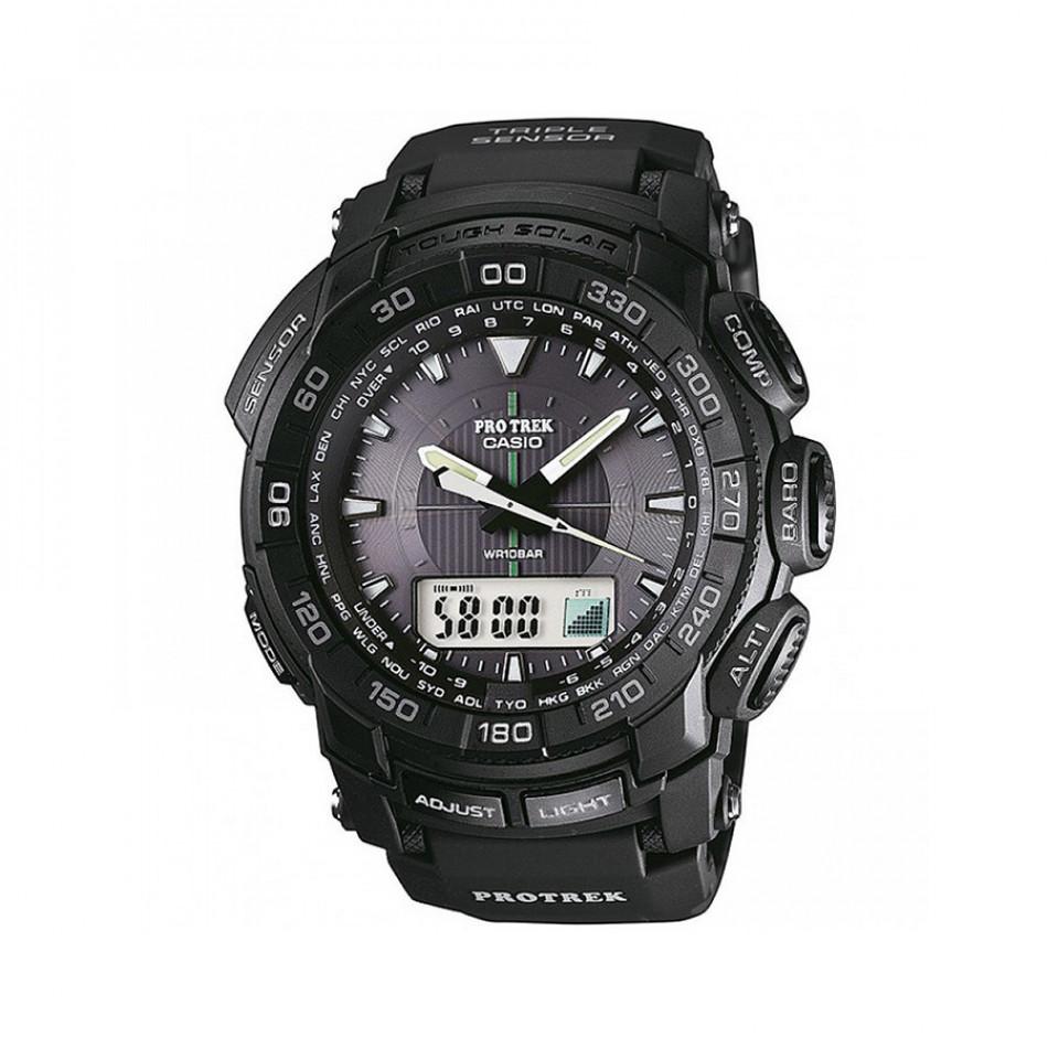 Мъжки часовник Casio Pro Trek черен с дигитално радио PRG5501A1ER