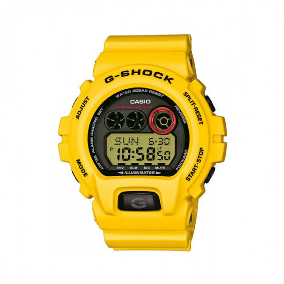 Мъжки спортен часовник Casio G-SHOCK жълт с черен циферблат GDX6930E9ER