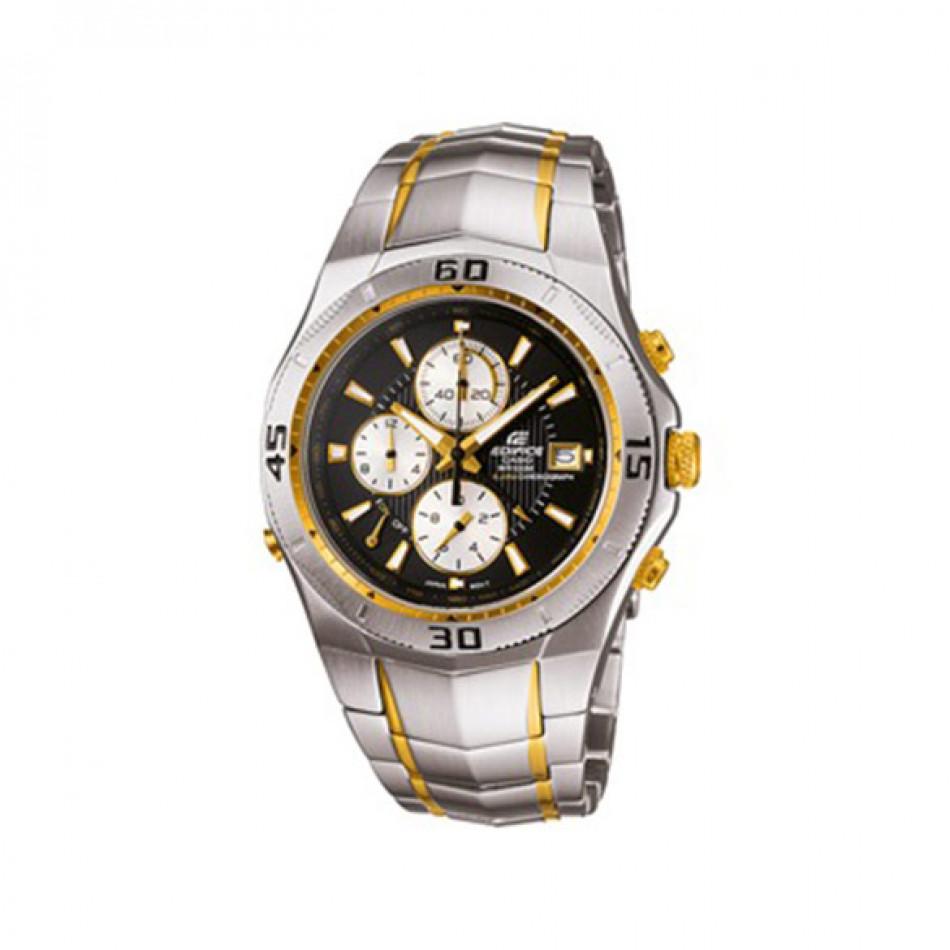 Мъжки часовник Casio Edifice сребрист браслет със златисти елементи EF514SG1AVDF