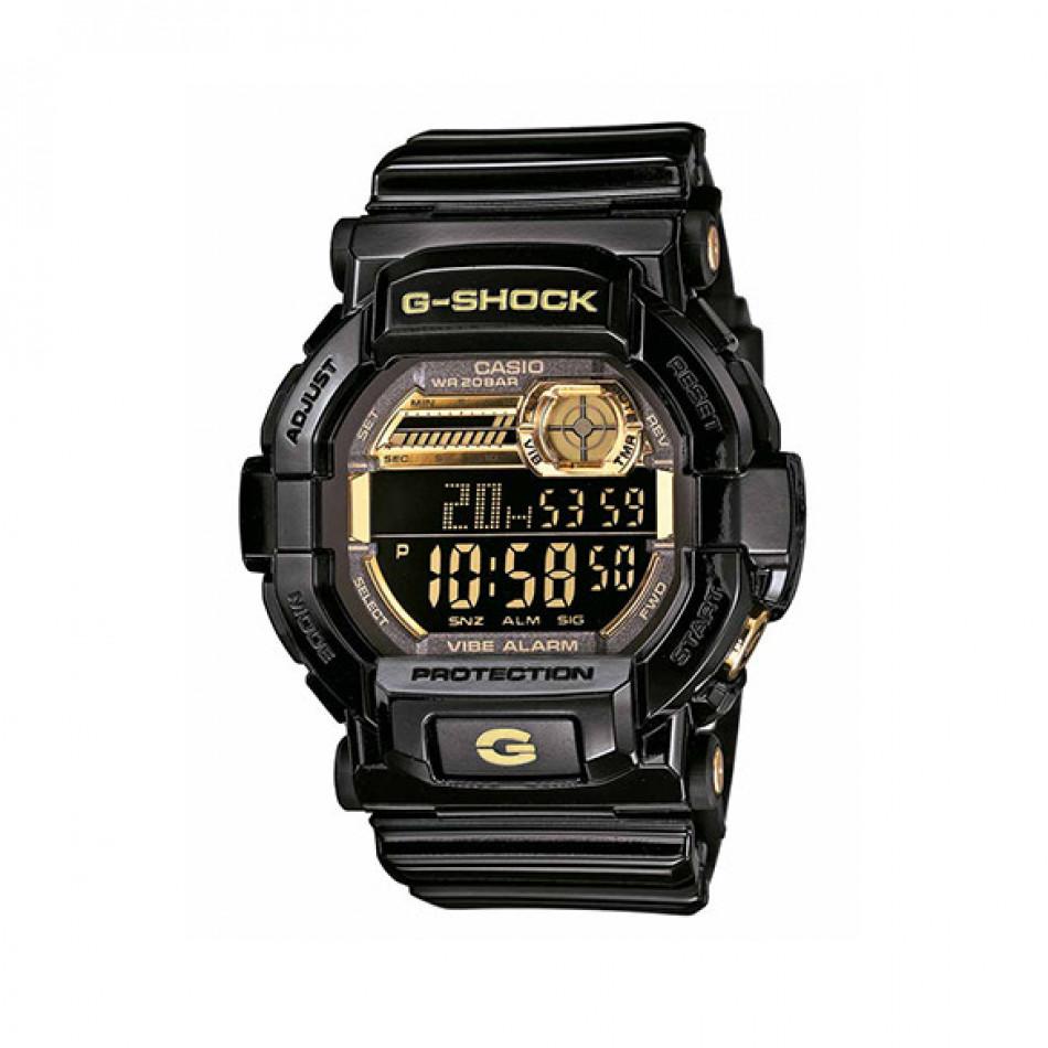 Мъжки спортен часовник Casio G-SHOCK черен със златисти елементи на дисплея GD350BR1ER