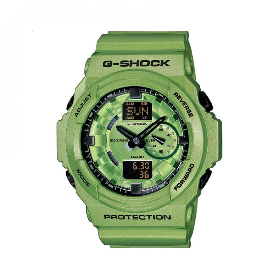 Мъжки спортен часовник Casio G-SHOCK зелен с черни стрелки GA150A3AER
