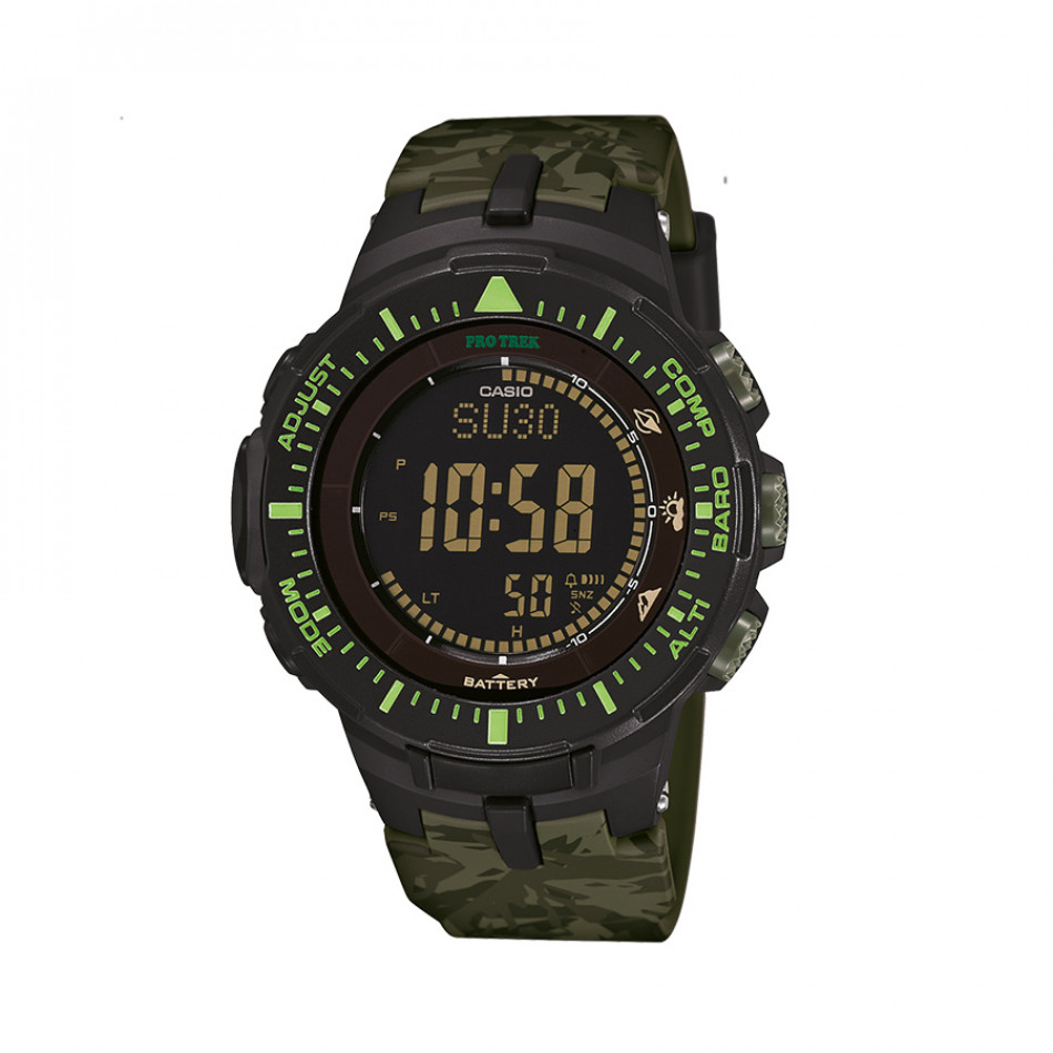 Мъжки часовник Casio Pro Trek зелен камуфлаж PRG300CM3ER