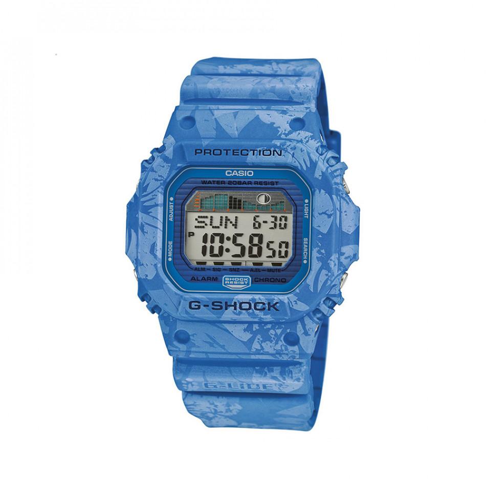 Мъжки часовник Casio G-SHOCK син с цветя по каишката GLX5600F2ER