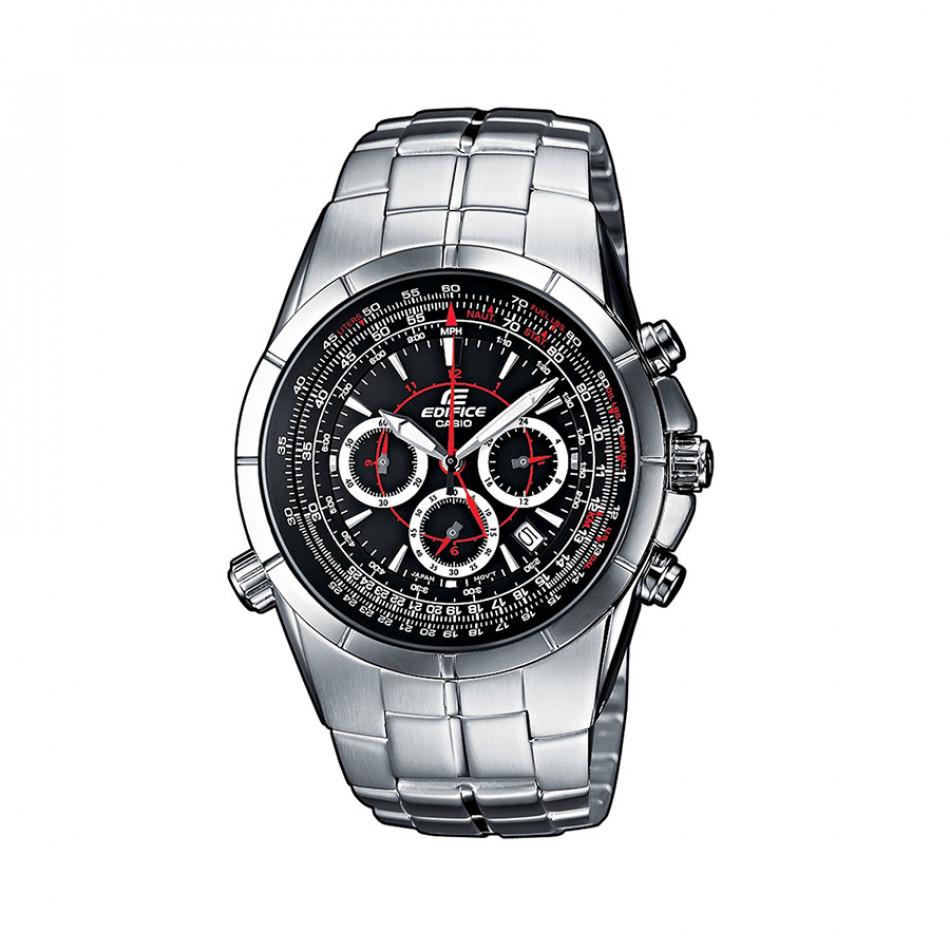 Мъжки часовник Casio Edifice сребрист браслет с втора часова зона EF518D1AVEF