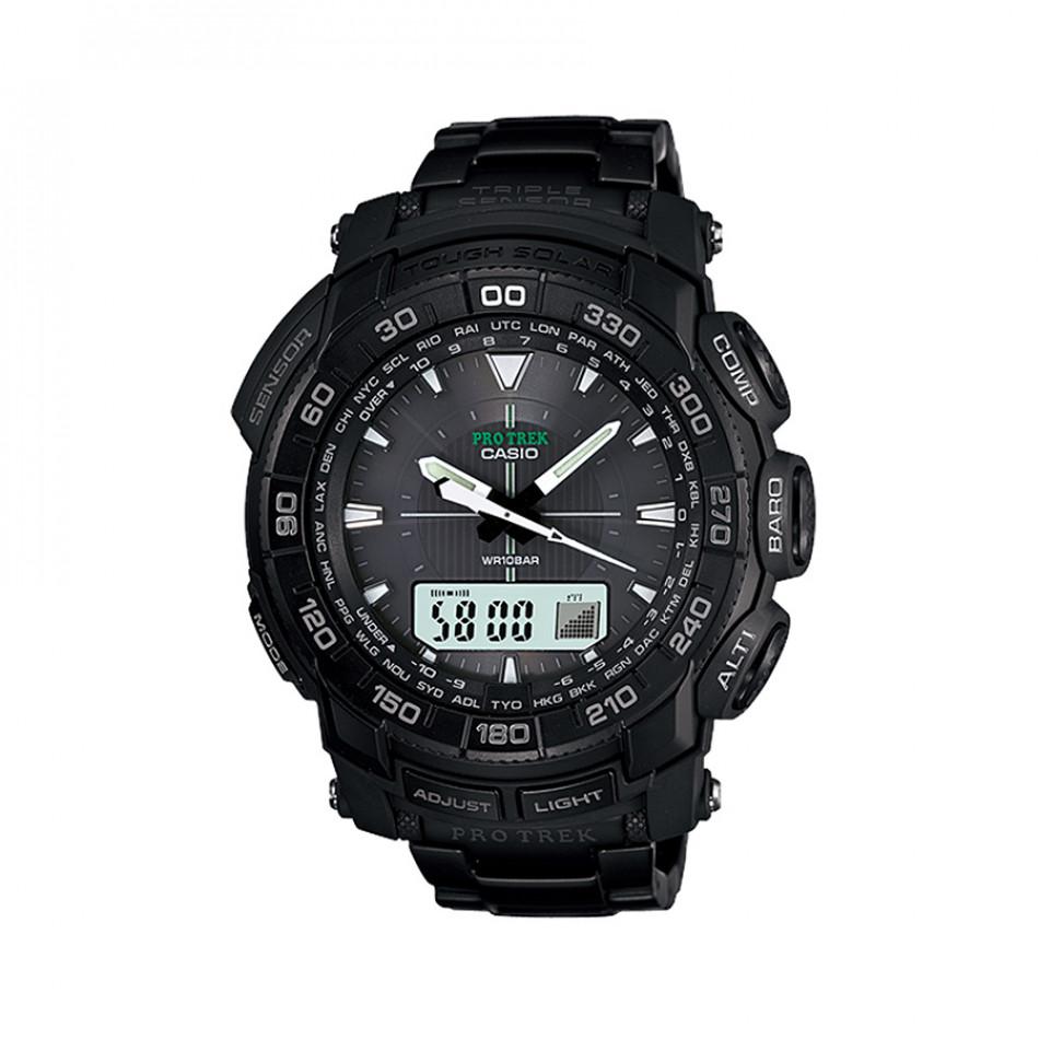 Мъжки часовник Casio Pro Trek  черен с водоустойчивост 10 BAR PRG550BD1ER