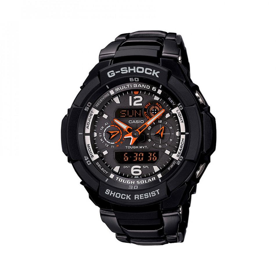 Мъжки спортен часовник Casio G-SHOCK черен с оранжеви стрелки GW3500BD1AER