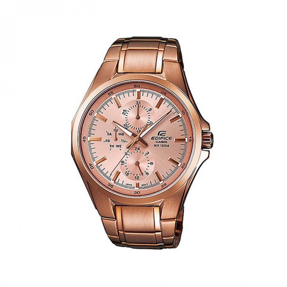 Мъжки часовник Casio Edifice златист браслет с механизъм кварцов хронограф EF339G9AVEF