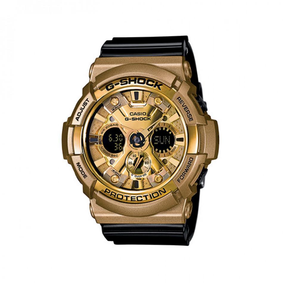 Мъжки спортен часовник Casio G-SHOCK златист с черна каишка GA200GD9B2ER