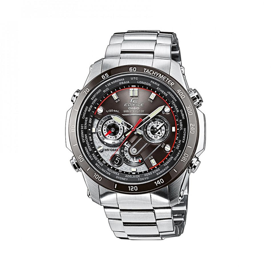 Мъжки часовник Casio Edifice сребрист браслет с тахиметър EQWM1000DB1AER