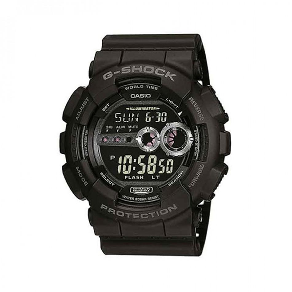 Мъжки спортен часовник Casio G-SHOCK черен с автоматичен календар GD1001BER