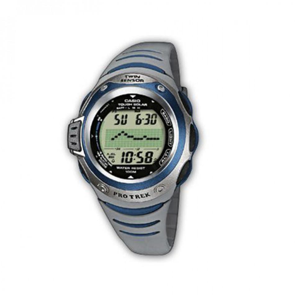 Мъжки часовник Casio Pro Trek сив със соларен механизъм PRG1002VER