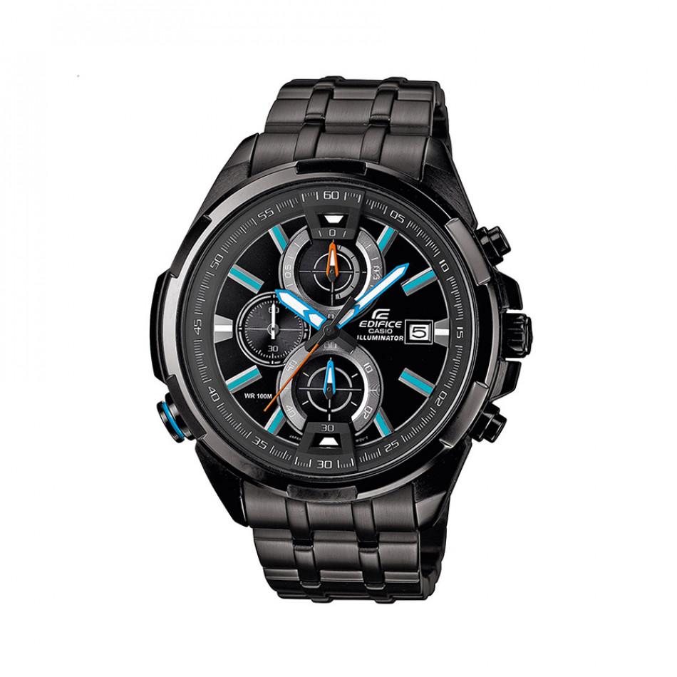 Мъжки часовник Casio Edifice черен браслет със сини индекси EFR536BK1A2VEF