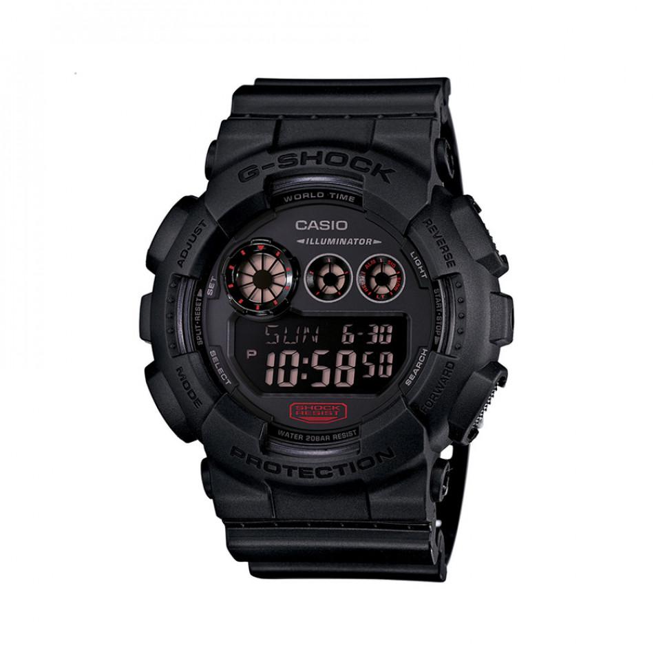 Мъжки спортен часовник Casio G-SHOCK черен със световно време GD120MB1ER