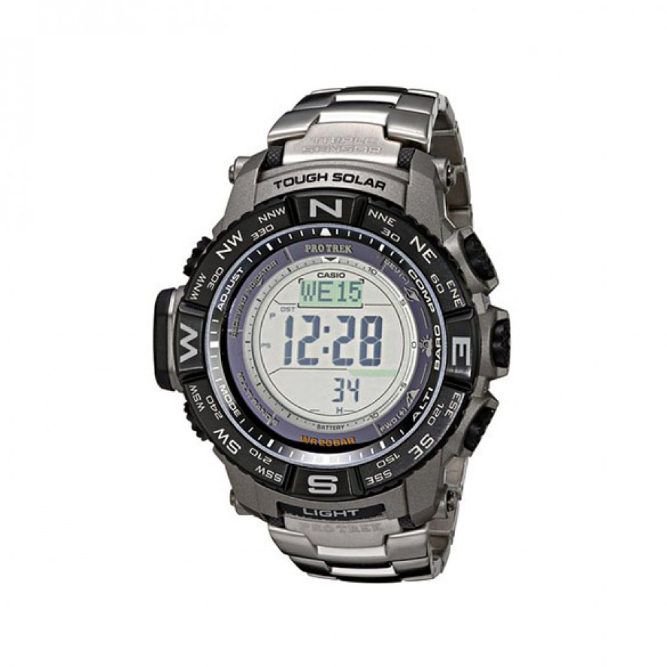 Мъжки часовник Casio Pro Trek с цифров компас с двупосочно калибриране PRW3500T7ER