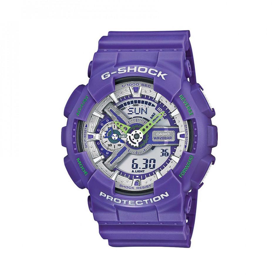 Мъжки спортен часовник Casio G-SHOCK син със захабен ефект GA110DN6AER