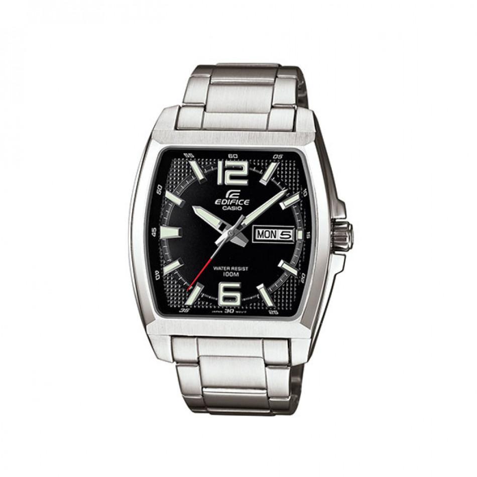 Мъжки часовник Casio Edifice сребрист с правоъгълен циферблат EFR100D1AVEF
