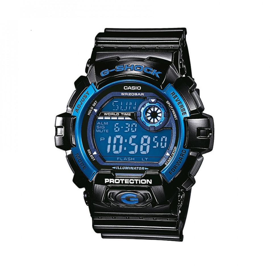 Мъжки спортен часовник Casio G-SHOCK черен със син дисплей G8900A1ER