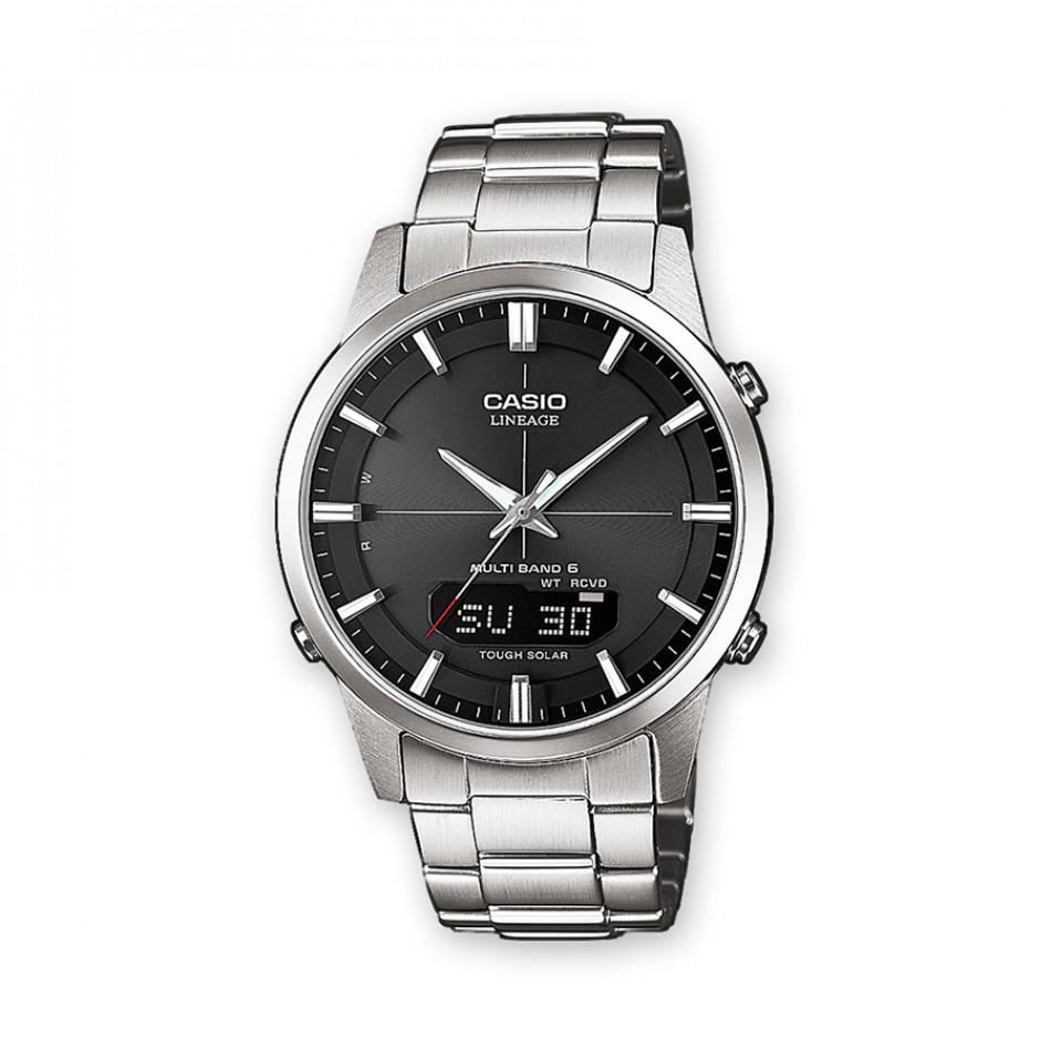 Мъжки часовник Casio Lineage сив с LED осветление на дисплея LCWM170D1AER