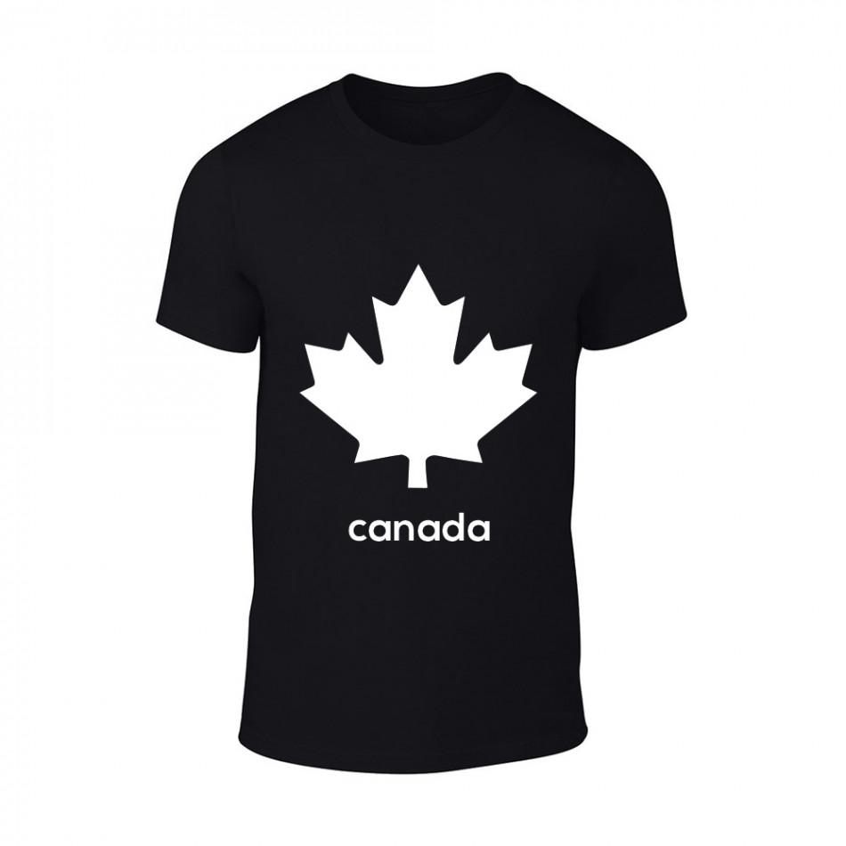 Мъжка черна тениска Canada TMN-M-064