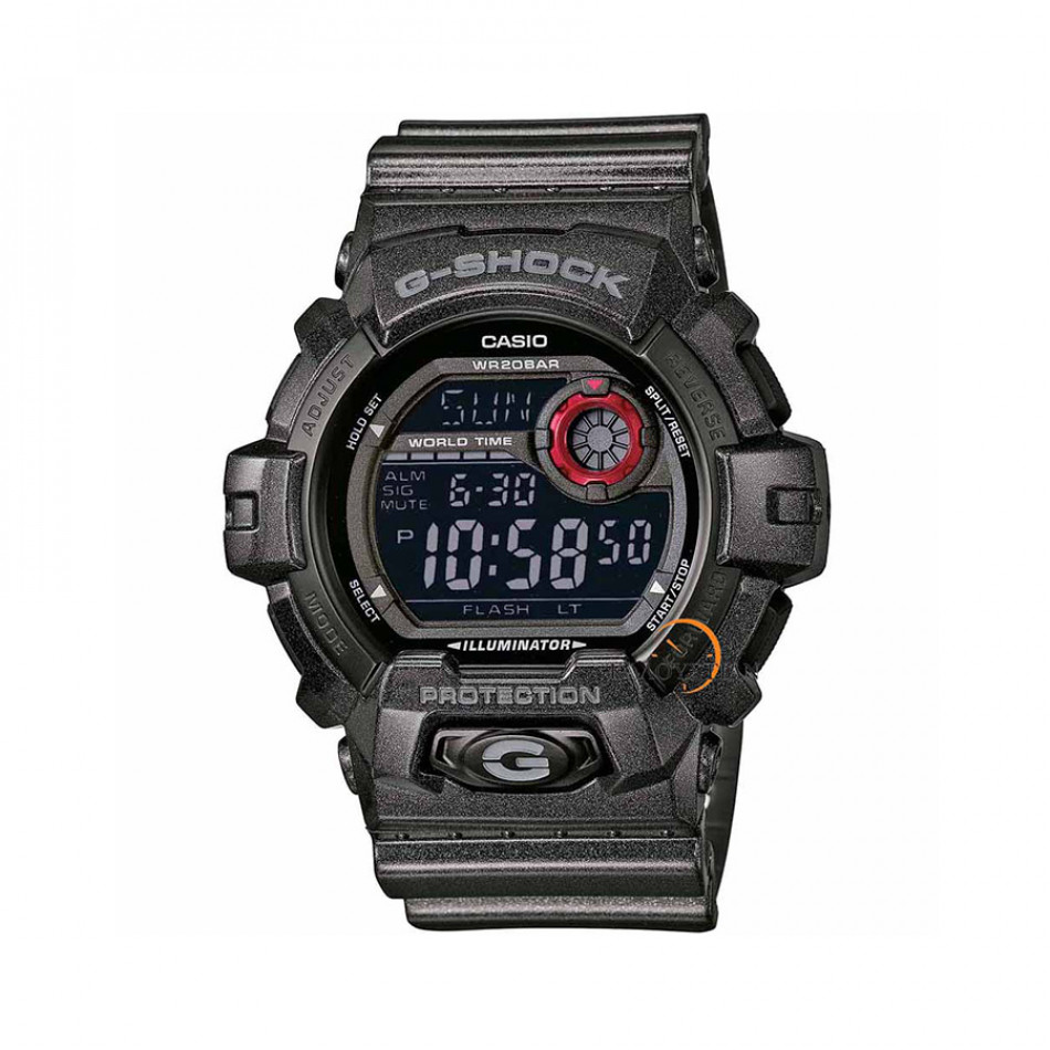 Мъжки спортен часовник Casio G-SHOCK черен със син дисплей G8900SH1ER