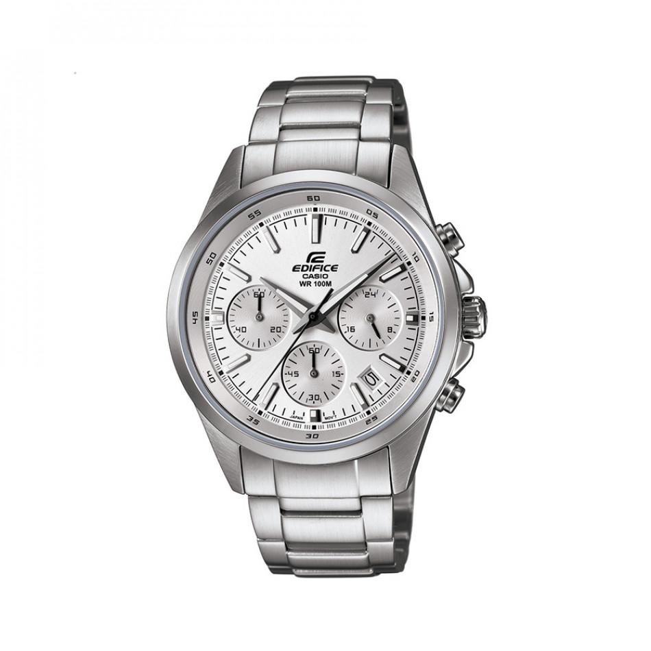 Мъжки часовник Casio Edifice сребрист браслет със сребрист циферблат EFR527D7AVUEF