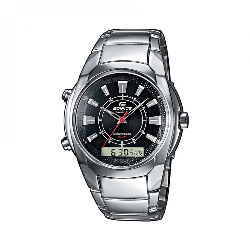 Мъжки часовник Casio Edifice сребрист с червена стрелка за секундите EFA128D1AVEF