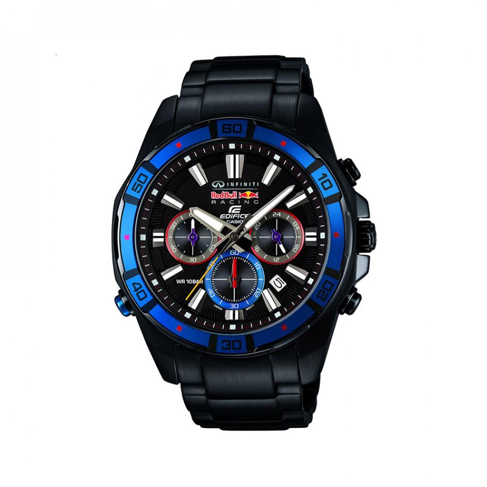 Мъжки часовник Casio Edifice черен браслет с хронометър EFR534RBK1AER