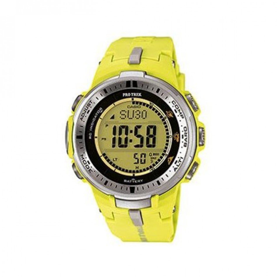 Мъжки часовник Casio Pro Trek жълт с радио сверяване PRW30009BER