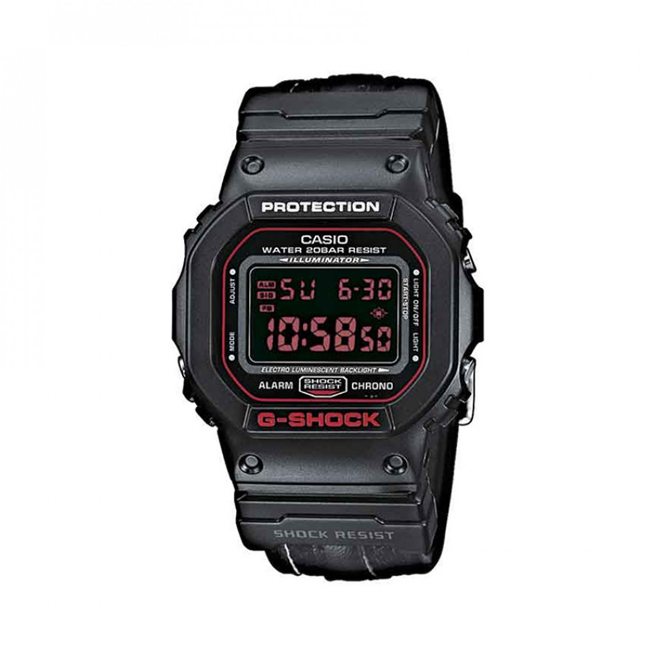 Мъжки спортен часовник Casio G-SHOCK черен с правоъгълен дисплей DW5600CL1ER