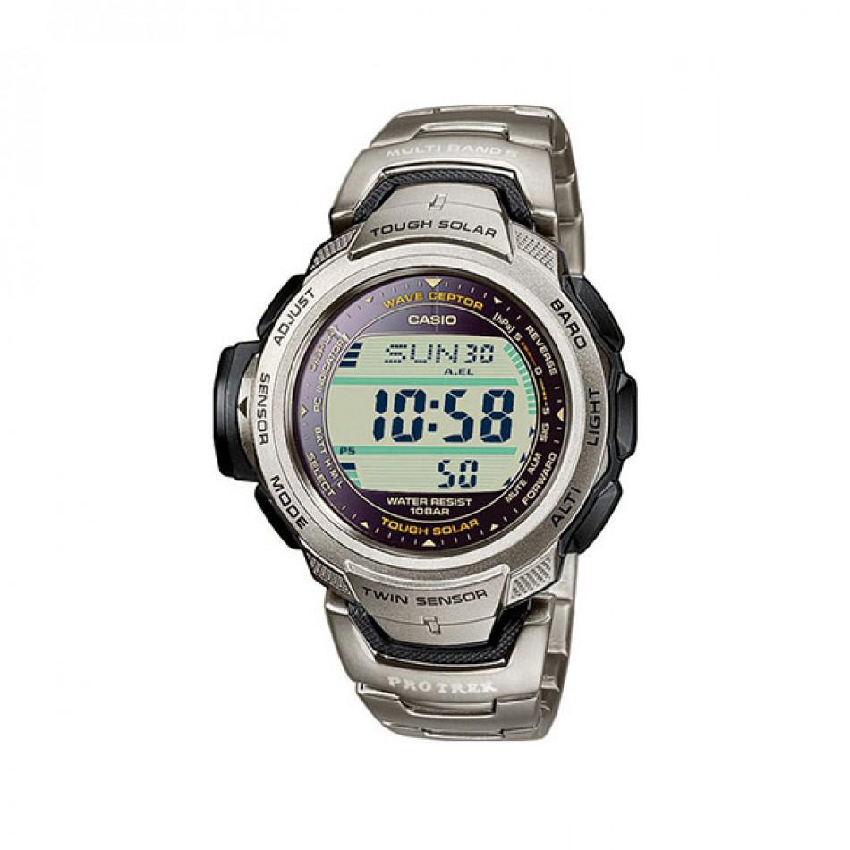 Мъжки часовник Casio Pro Trek сребрист с титаниева каишка PRW500T7VER