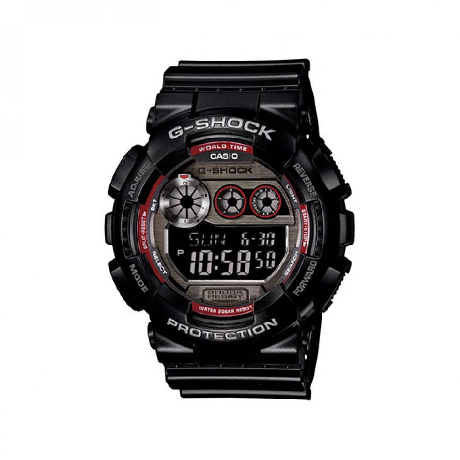 Мъжки спортен часовник Casio G-SHOCK черен с червени детайли на циферблата GD120TS1ER