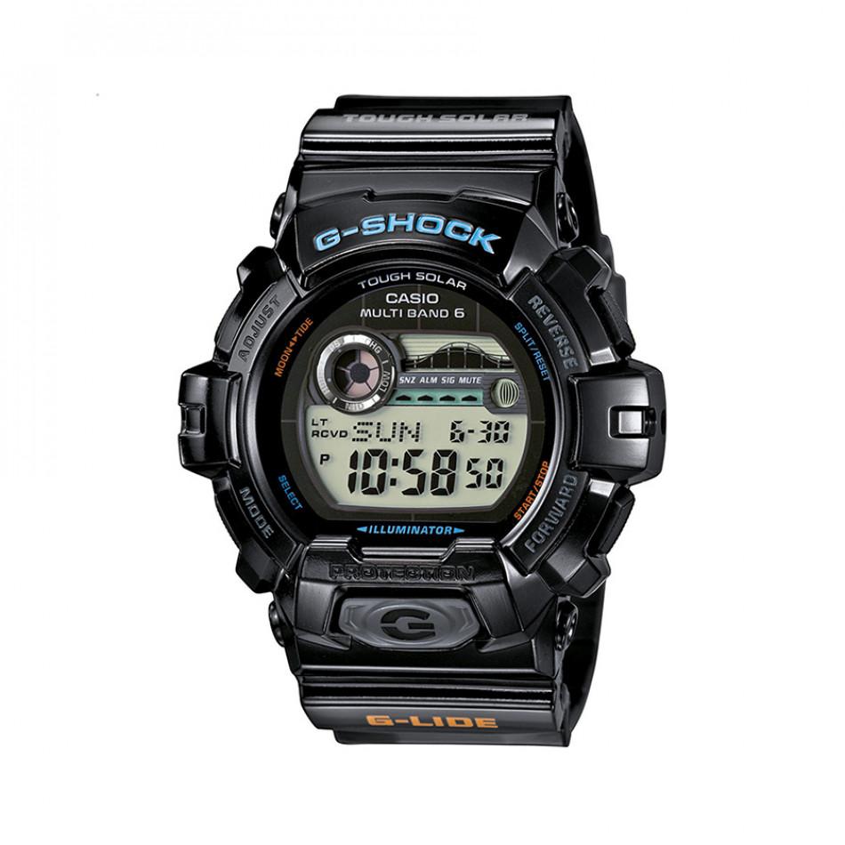 Мъжки спортен часовник Casio G-SHOCK черен с разноцветни надписи GWX89001ER