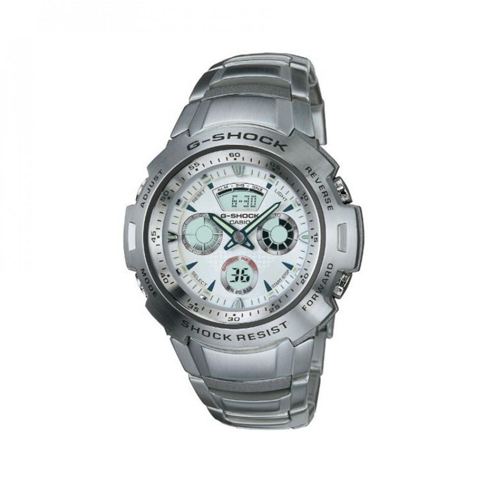 Мъжки часовник Casio G-SHOCK сив стоманен браслет G701D7AVER