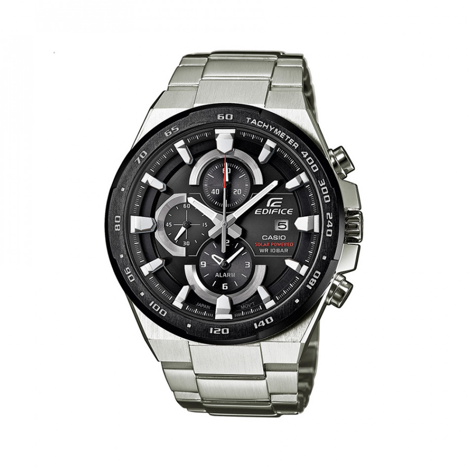 Мъжки часовник Casio Edifice сребрист браслет с дата на дисплея EFR541SBDB1AEF