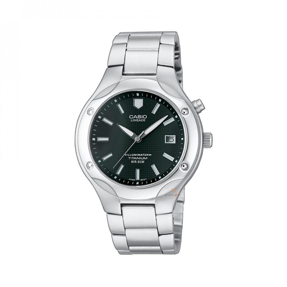 Мъжки часовник Casio Collection сребрист браслет с луминисцентно покритие LIN1651BVEF
