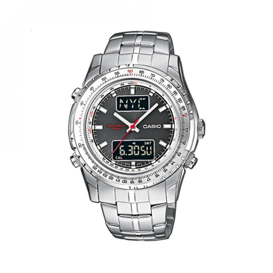 Мъжки часовник Casio Collection сребрист браслет с червена стрелка за секундите MTP4700D1AVEF