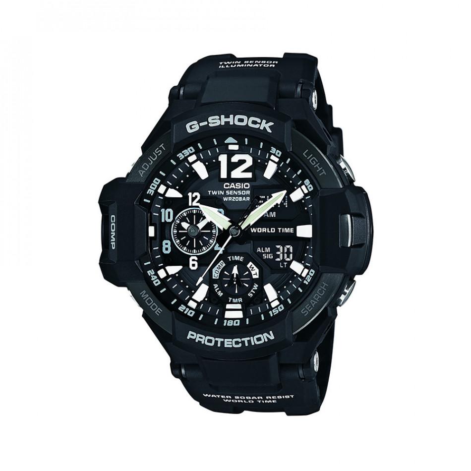 Мъжки спортен часовник Casio G-SHOCK черен с термометър GA11001AER