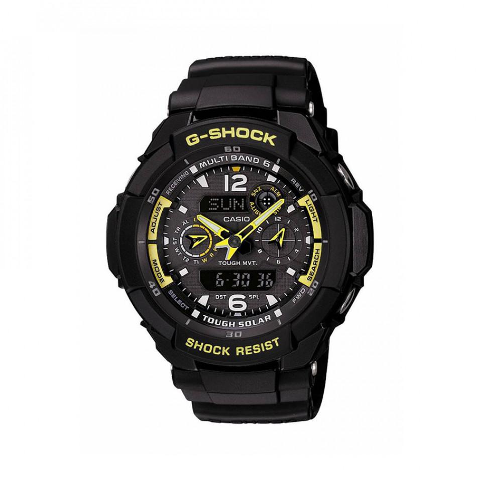Мъжки спортен часовник Casio G-SHOCK черен с жълти стрелки GW3500B1AER