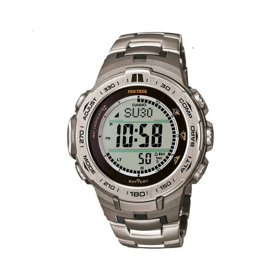 Мъжки часовник Casio Pro Trek стоманен сребрист браслет PRW3100T7ER