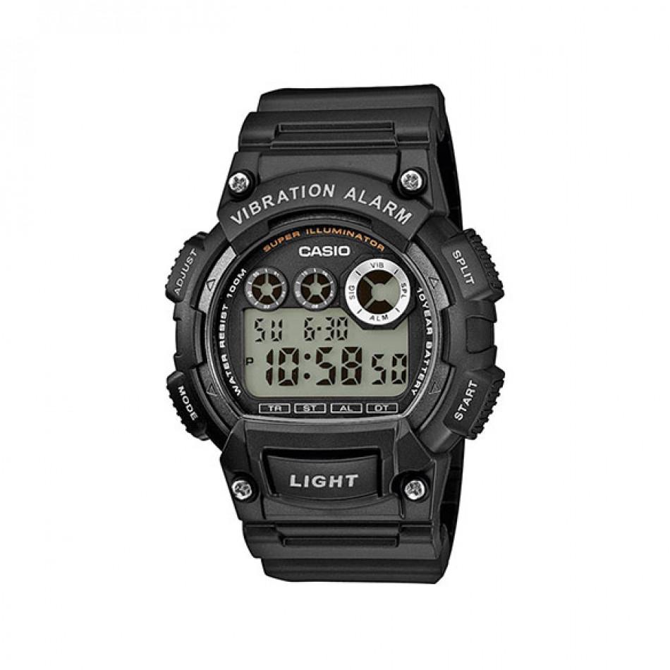 Мъжки часовник Casio Collection черен с вибрация W735H1AVEF