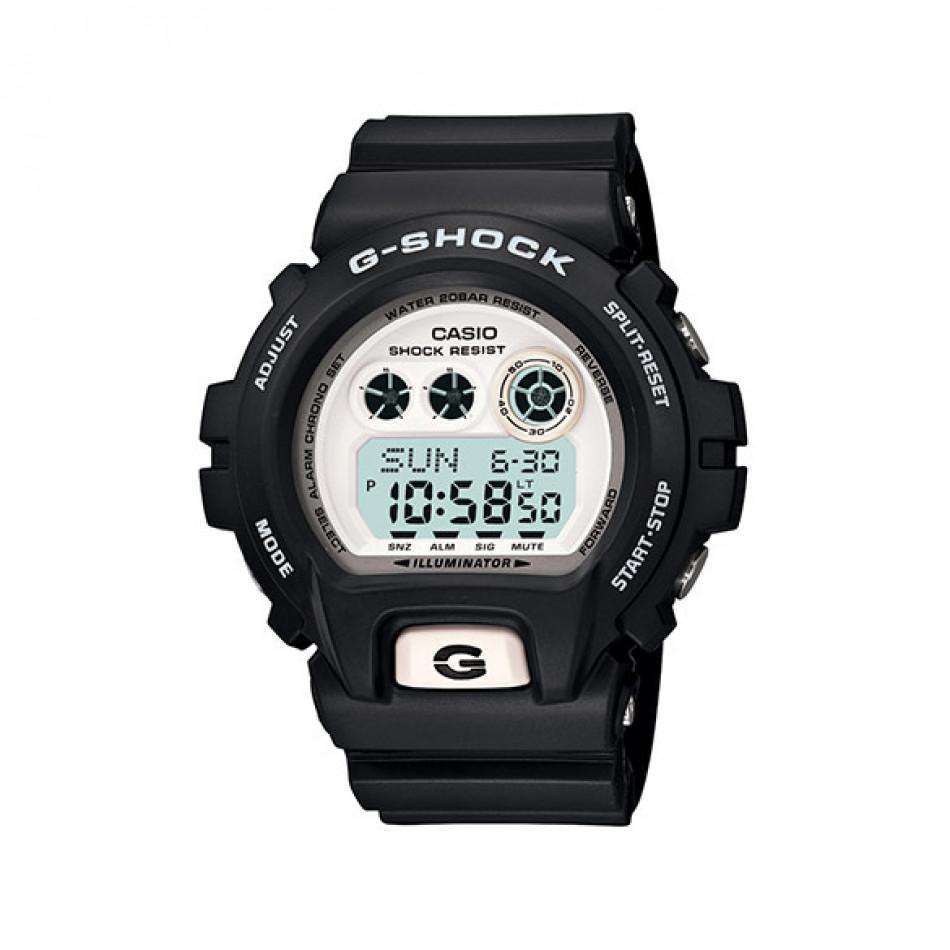 Мъжки спортен часовник Casio G-SHOCK черен с бял дисплей GDX69007ER