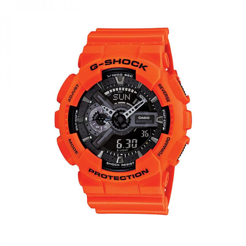 Мъжки спортен часовник Casio G-SHOCK оранжев с черен циферблат GA110MR4AER