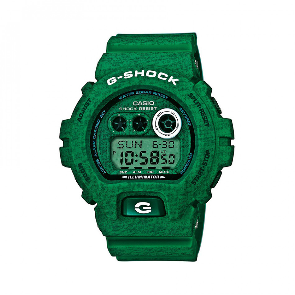Мъжки спортен часовник Casio G-SHOCK зелен с двуцветни надписи GDX6900HT3ER