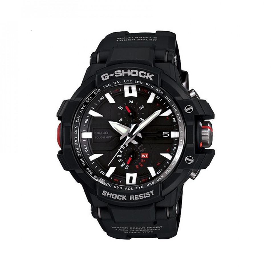 Мъжки спортен часовник Casio G-SHOCK черен с малки червени елементи GWA10001AER