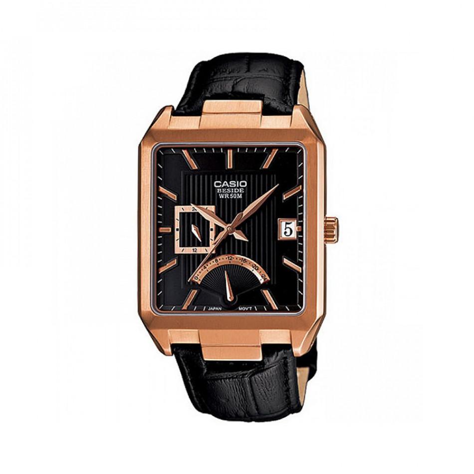 Мъжки часовник Casio Beside черен със златиста каса BEM309GL1AVEF