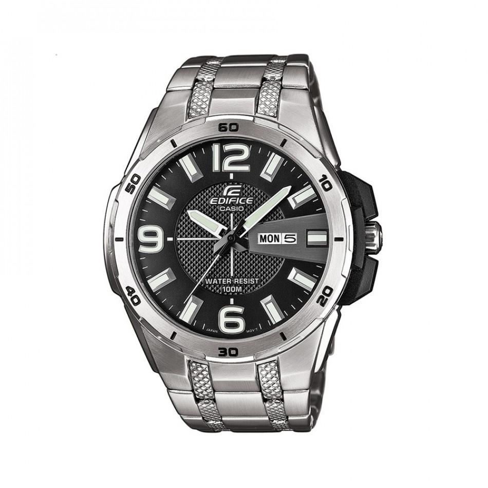 Мъжки часовник Casio Edifice сребрист браслет със сиви цифри EFR104D1AVUEF