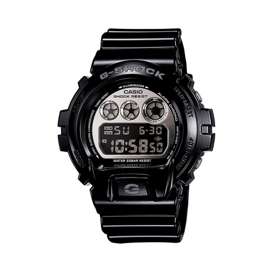 Мъжки спортен часовник Casio G-SHOCK черен с мултифункционална аларма DW6900NB1ER